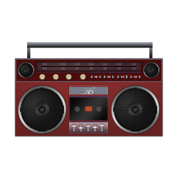 Boombox Red