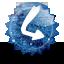 Linkuj grunge icon