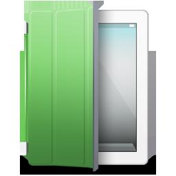 iPad 2 White green cover