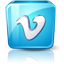 Vimeo high detail icon