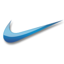Nike blue logo-128