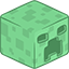 3D Creeper Minecraft-64