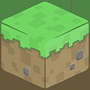 3D Grass Minecraft-128