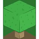 3D Tree Minecraft-128