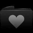 Folder black heart-128