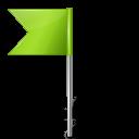Map Marker Flag 4 Left Chartreuse-128