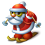 Santa skiing Icon