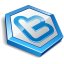 Blue shape twitter icon