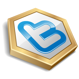 Gold shape twitter