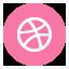 Dribbble Round icon