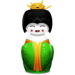 Geisha china green