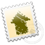 Grey Designbump stamp icon