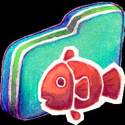 Fishy Green Folder