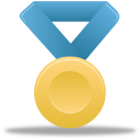 Metal gold blue-128