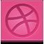 Dribbble square Icon