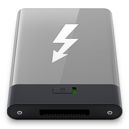 Hdd Grey Thunderbolt W Icon Download Hdrv Icons Iconspedia
