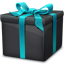 Black Gift Box icon