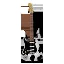 Stratocaster guitar cow-128