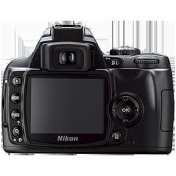 Nikon D40 back