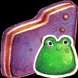 Froggy Violet Folder