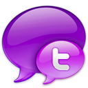 Small Twitter Logo in Pink-128