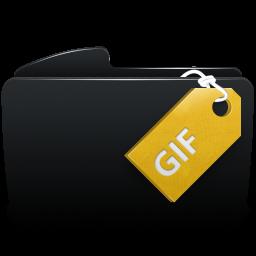 Folder black gif