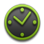 Clock green Icon