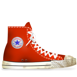 Converse Red dirty