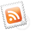Grey Rss stamp icon