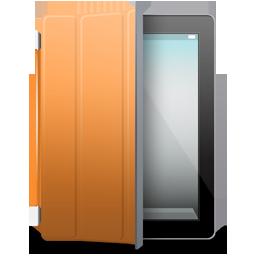 iPad 2 black orange cover