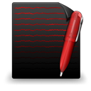 File Text black red-128