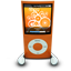 Orange iPod Nano icon