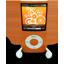 Orange iPod Nano-64