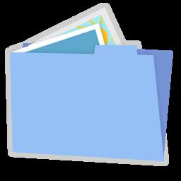 Blue folder pictures alt