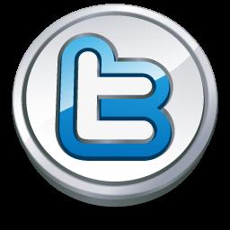 Twitter round button