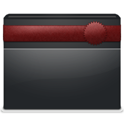 Black Folder Ribbon