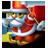 Santa skiing-32