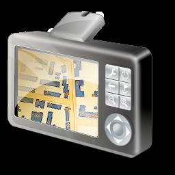 GPS device map