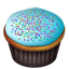 Cupcakes blue icon