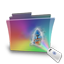 Folder rainbow movie icon