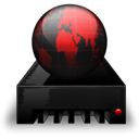 Network Drive black red-128