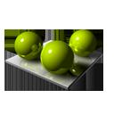 3 Green Spheares-128