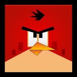 Red Angry Bird Frameless