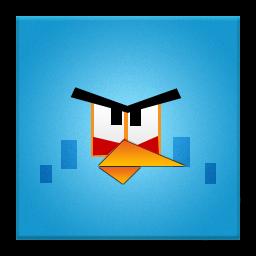 Blue Angry Bird Frameless