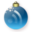 Feed Christmas Blue Icon