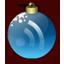Feed Christmas Blue icon