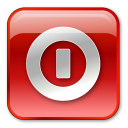 Shutdown box red-128