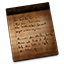 Notes Wooden Icon