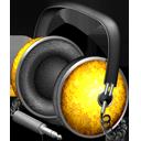 Golden Garnish headphones-128