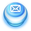 Mail Blue Push Button Icon
